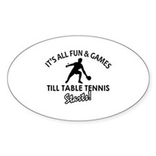 Unique Table Tennis designs Decal