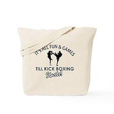 Unique Kick Boxing designs Tote Bag