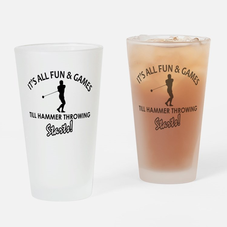 Unique Hammer Throw designs Drinking Glass