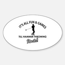 Unique Hammer Throw designs Decal