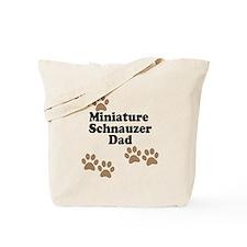 Miniature Schnauzer Dad Tote Bag