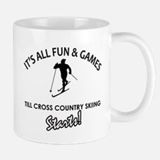 Unique Cross Country Skiing designs Mug