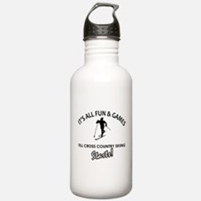Unique Cross Country Skiing designs Water Bottle