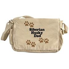 Siberian Husky Dad Messenger Bag