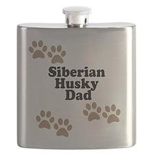 Siberian Husky Dad Flask