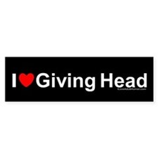 Giving Head Bumper Stickers