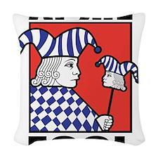 April Fool's Day Woven Throw Pillow