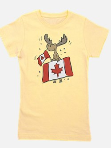 Canada Day Moose Girl's Tee