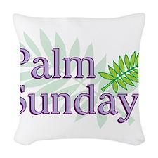Palm Sunday Woven Throw Pillow