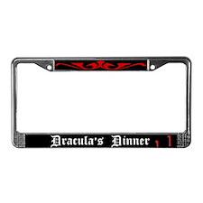 Dracula's Dinner License Plate Frame