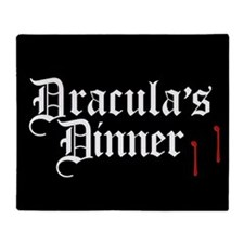 Dracula's Dinner Throw Blanket