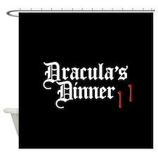 Dracula's Dinner Shower Curtain