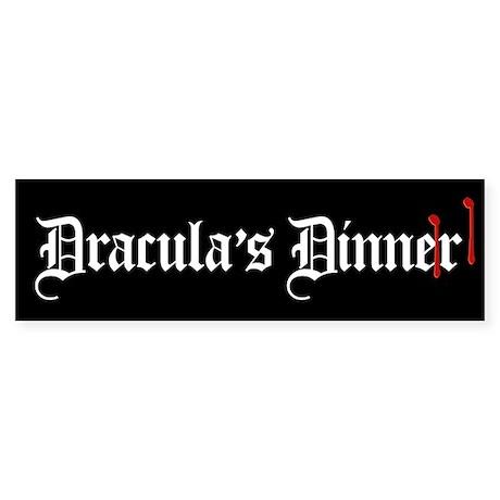Dracula's Dinner Sticker (Bumper)