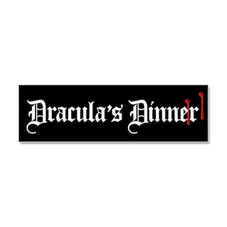 Dracula's Dinner Car Magnet 10 x 3