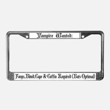 Vampire Wanted License Plate Frame