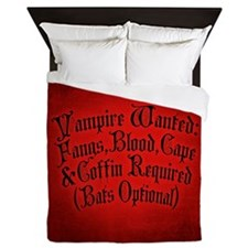 Vampire Wanted Queen Duvet