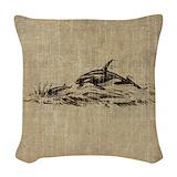 Killer whale decorator Throw Pillows