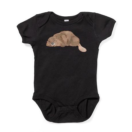 Cute Beaver Baby Bodysuit