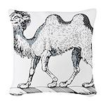 Camel Crest Woven Throw Pillow