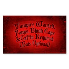 Vampire Wanted Decal