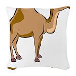 Camel Love Woven Throw Pillow