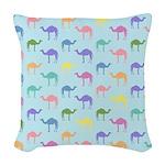Colorful Camel Woven Throw Pillow