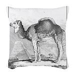 Camel Illustration Woven Throw Pillow