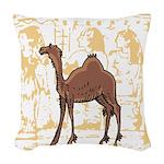 Egyptian Camel Woven Throw Pillow