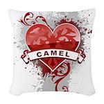 Heart Camel Woven Throw Pillow