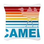 Colorful Camel Woven Throw Pillow