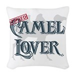 Camel Lover Woven Throw Pillow
