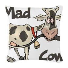 Mad Cow Woven Throw Pillow