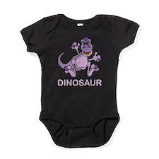 Purple Dinosaur Baby Bodysuit