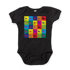 Pop Art Dinosaur Baby Bodysuit
