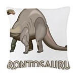 Brontosaurus Woven Throw Pillow