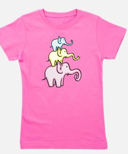 Elephants Girl's Tee