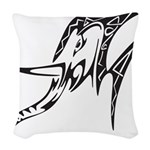 Tribal Elephant Woven Throw Pillow