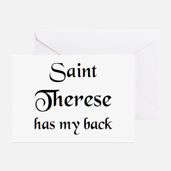 saint therese Greeting Cards