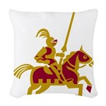 Knight On Horse Woven Throw Pillow