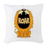 Lion Roar Woven Throw Pillow