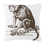 Monkey Woven Throw Pillow