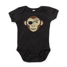 Pirate Monkey Baby Bodysuit