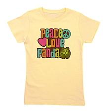 Peace Love Panda Girl's Tee