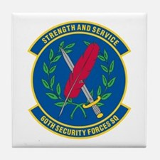60th Security Forces Tile Coaster