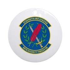 60th Security Forces Ornament (Round)