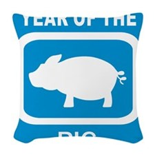 Year Of The Pig Woven Throw Pillow