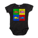 Pop Art Rabbit Baby Bodysuit