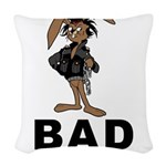Bad Hare Day Woven Throw Pillow