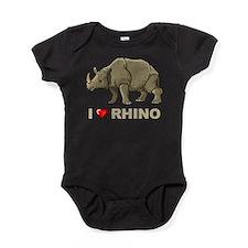I Love Rhino Baby Bodysuit
