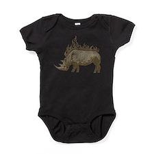 Vintage Rhinoceros Baby Bodysuit